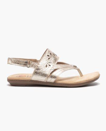 Earth Spirit Ontario Washed Gold Slingback Strap Sandal