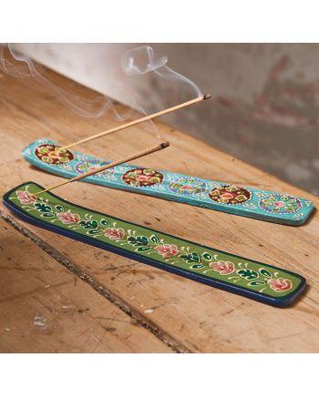 Namaste Wooden painted incense stick holder