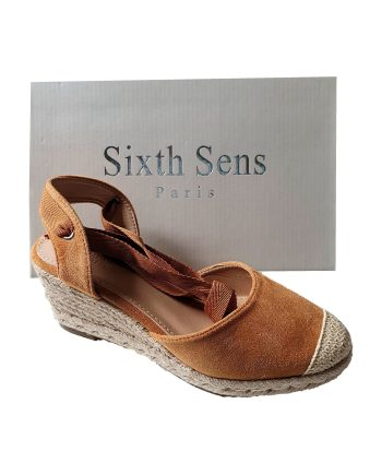 Sixth Sens Wedge Espadrille With Ankle Ties
