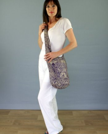 Floral Pattern Cross Body Bag
