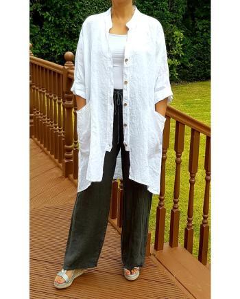 High Low Linen Shirt
