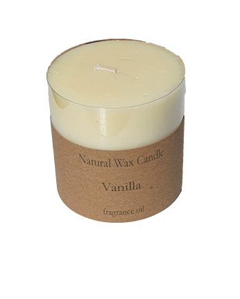 Heaven Scent Organic Candle Vanilla Pillar Candle
