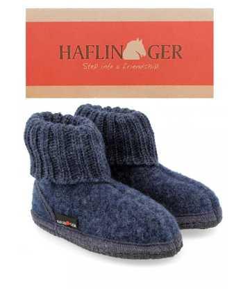 Haflinger Children's Slipper Boot Karl Jeans