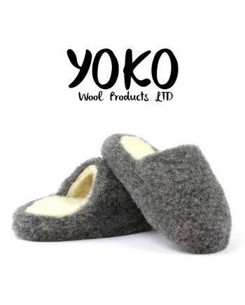 Yoko Wool Slippers Basic Graphite Mule