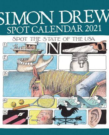 Simon Drew Easel Calendar 2021