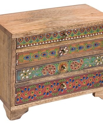 Namaste Hand Painted Indian 4 Drawer Chest