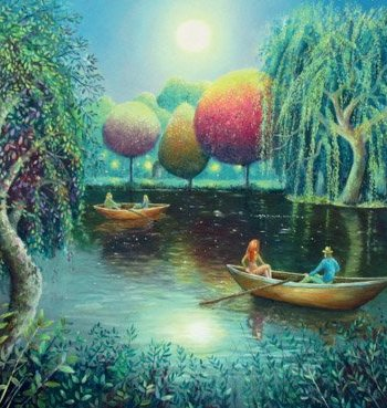 Willows on the Water Card