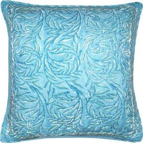 Block Printed Cushion Cover Aqua