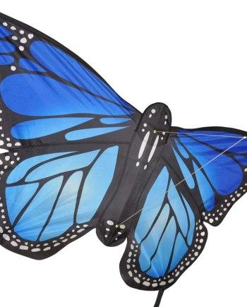 Monarch Butterfly Single Line Large Kite Blue