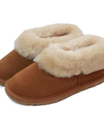 Ladies Sheepskin Lined Slipper Boot