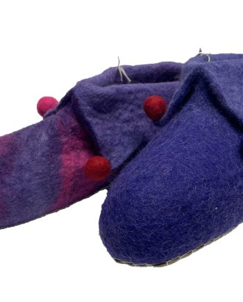 Adult Purple Jester Slippers