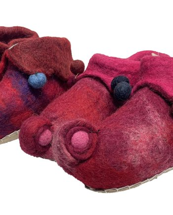 Childrens Red Jester Slippers