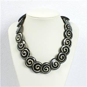 Yak Bone disc necklace