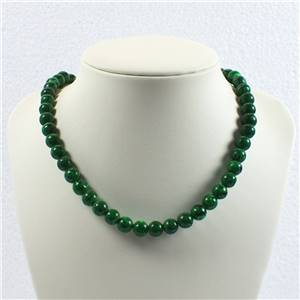 Round Malachite Crystal Beads Necklace