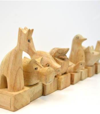 Wooden Animal Doorstop