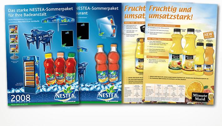 Mailings und Produkteblätter für diverse Labels