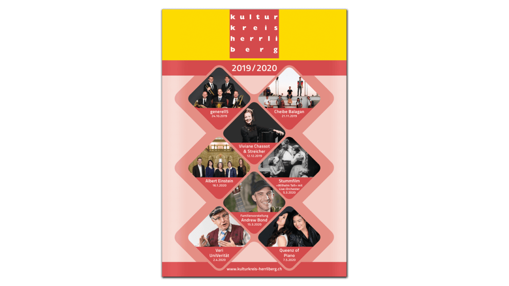 Graphic Design Leporello Jahresprogramm
