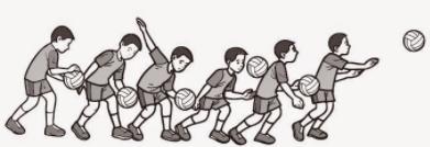 teknik servis bawah bola voli