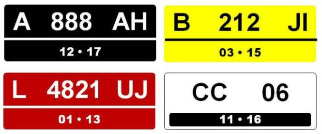 kode plat nomor kendaraan bermotor