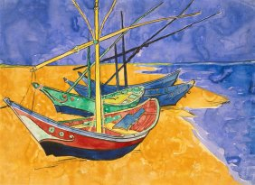 Vincent_van_Gogh_-_Boats_at_Saintes-Marie_watercolour