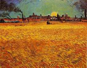 Wheat Fields near Arles Vincent van Gogh