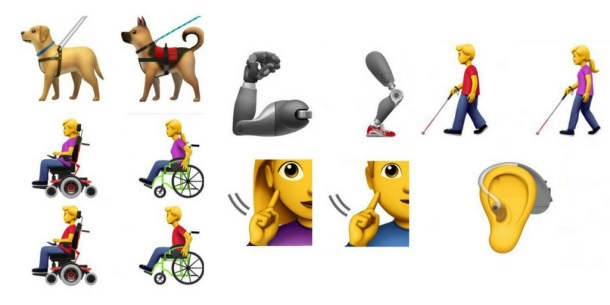apple emoji's gehandicapten
