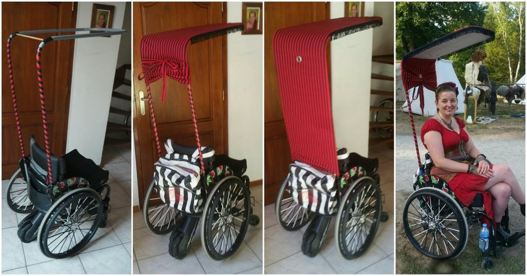 Kostuum castlefest rolstoel
