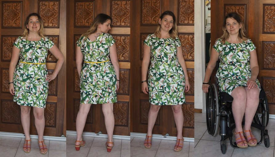 Kaitlyn Leaves Dress Smashed Lemon Topvintage