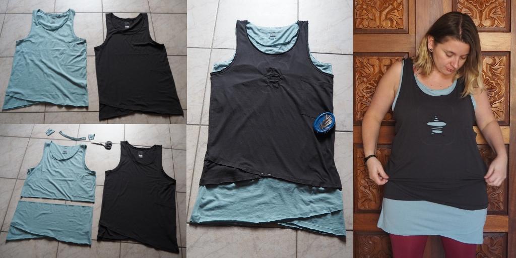 upcycled shirt refashion