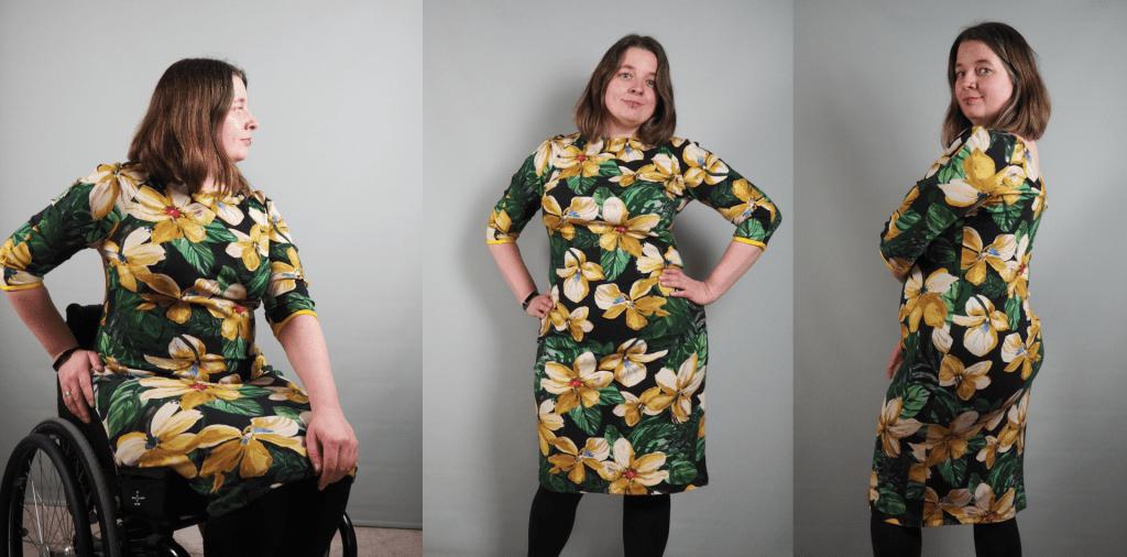 jurk met gele bloemen
