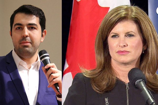 رونا امبروز رهبر موقت حزب محافظه کار کانادا  بیژن احمدی رئیس کنگره ایرانیان کانادا