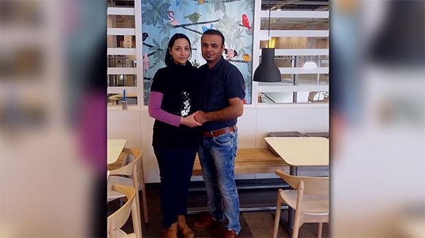 عکسی از دوران خوش گذشته-احمد نورانی در کنار همسرش مریم رشیدی