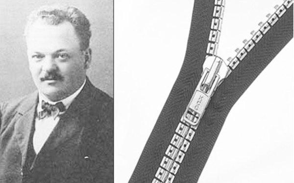 گیدون ساندبک در سال 1913 زیپ را اختراع کرد  و این اختراع تحول بزرگی در صنعت پوشاک و کیف سازی بود.