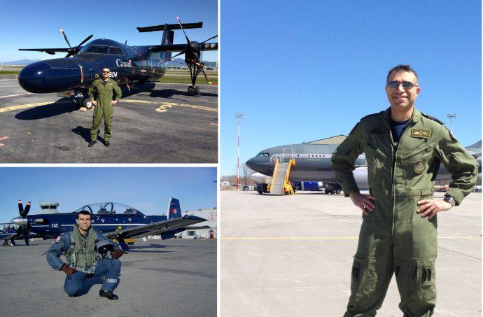 چند عکس از کاپیتان هومن شیرازی : راست ـ ایرباس CC150 سال 2015 چپ بالا ـ CT142 سال 2013 چپ پایین ـ CT156 هاروارد II، سال 2001