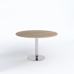 Wood Base Round Meeting Table