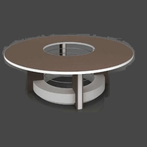 Drum Base Round Meeting Table Luxury Table