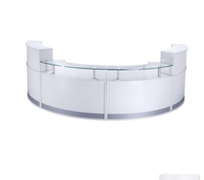Luxury Curved Reception Desk