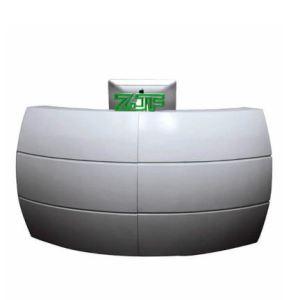 White Modern Reception Desk
