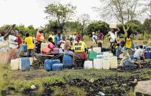 SCANT BENEFIT: The people of Lillydale, in Mpumalanga, do not have running water or tarred roads even though their village owns Mala Mala game reserve and the previous owner paid millions in rent since the community successfully claimed the land more than a year ago. Image by: MOELETSI MABE