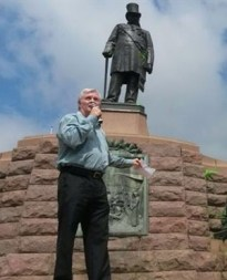 Pieter Groenewald addresses protesters in Pretoria. (Ockert de Villiers, News24)