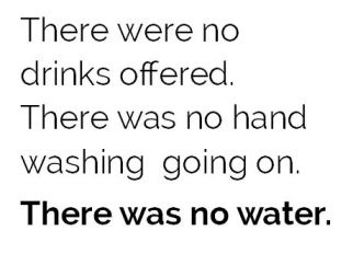 there was no water