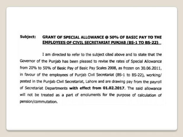BPS 17 Salary Punjab
