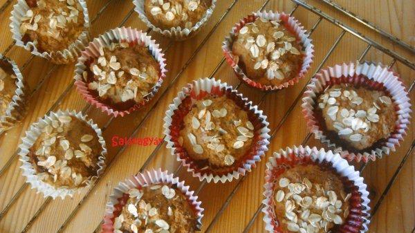 Banános almás zabpelyhes muffin