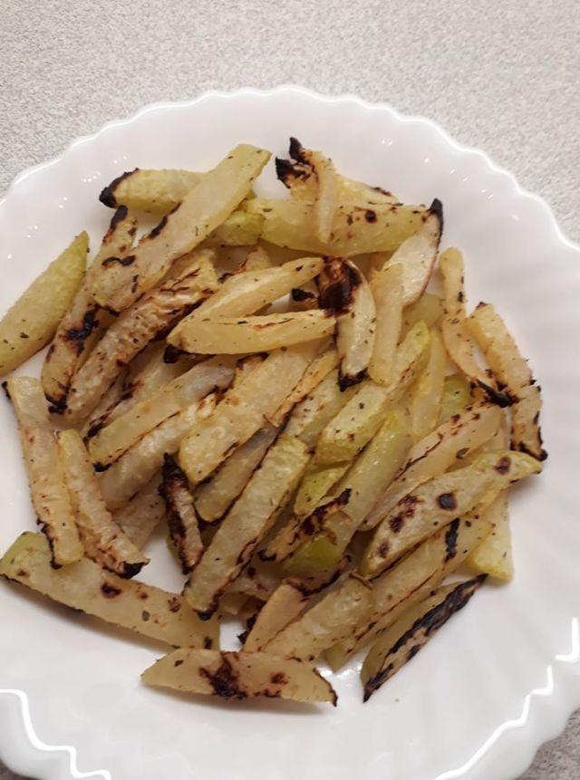 Sült karalábé diétás köret sült krumpli helyett