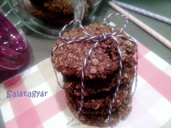 Kakaós kókuszos omlós zabkeksz recept