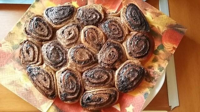 Teljes kiőrlésű fahéjas csiga tésztájából kakaós csiga - Roneczné Ambrus-Tóth Judit fotója