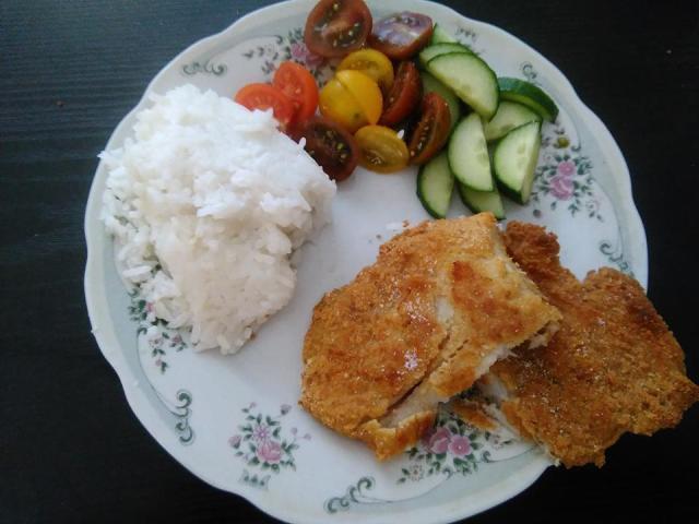 Rántott hal sütőben sütve