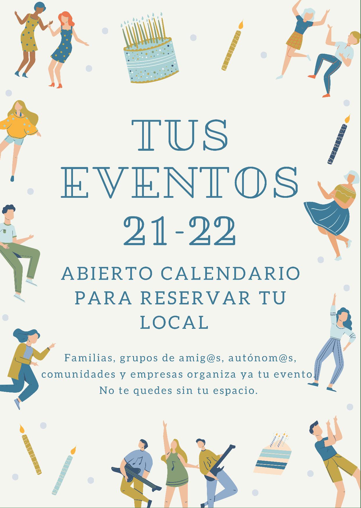 Reservas eventos 21/22