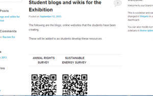 student blogs screenshot