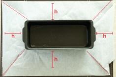 Corte o papel manteiga nas linhas pontilhadas